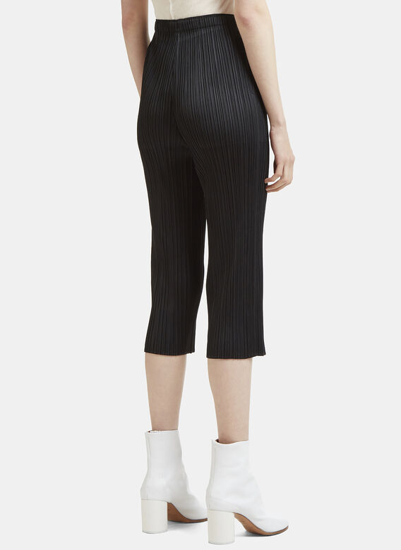 Pleats Please Issey Miyake Cropped Pleated Pants