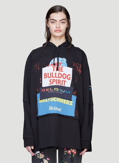 Vetements Hooded Patchwork Sweater