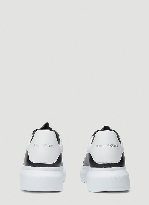 Alexander McQueen LARRY/LARRY LEATHER UPPER AND RU BLACK/WHITE 4