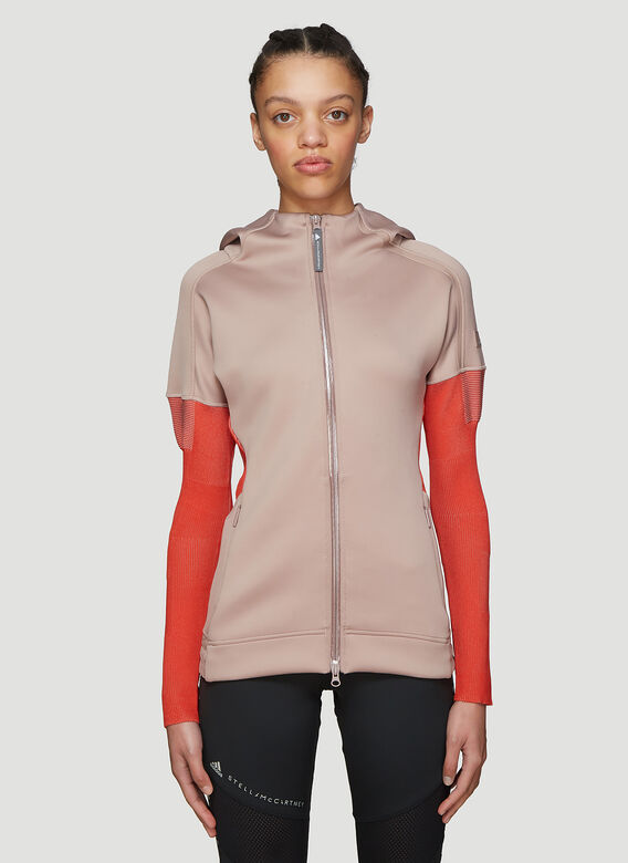 4d121fd4af077 Adidas by Stella McCartney Hooded Z N E Zip-Up Top