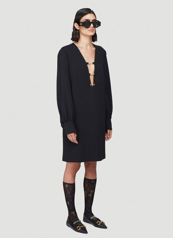 Gucci Deep V-Neck Dress 2