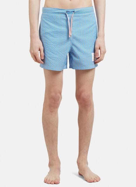 Thom Browne Seersucker Swim Shorts