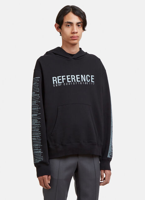 Yang Li Hooded Reference Print Sweatshirt