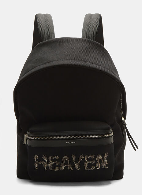 Saint Laurent Embroidered Heaven Backpack