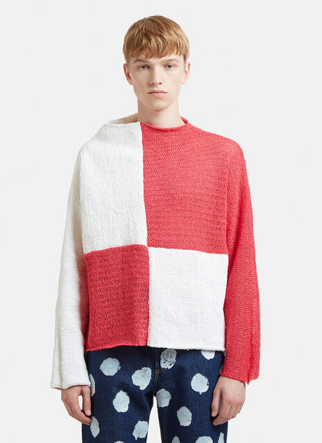 Eckhaus Latta Open Knit Check Sweater
