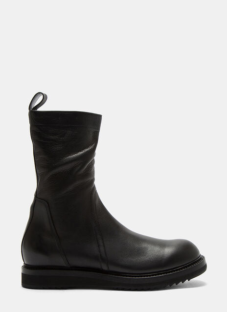 Creeper Zip-Up Ankle Boots