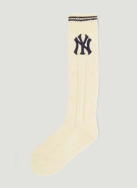 Gucci NY Yankees Ribbed Wool Socks