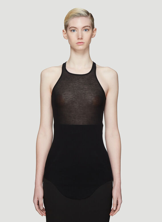 Rick Owens Basic Rib Tank Top