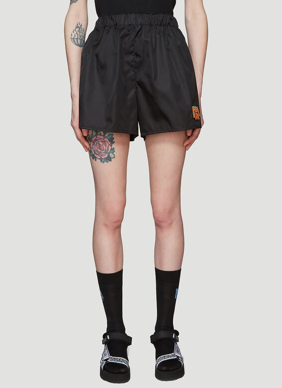 0984489e8c2 Prada Nylon Logo Shorts in Black | LN-CC