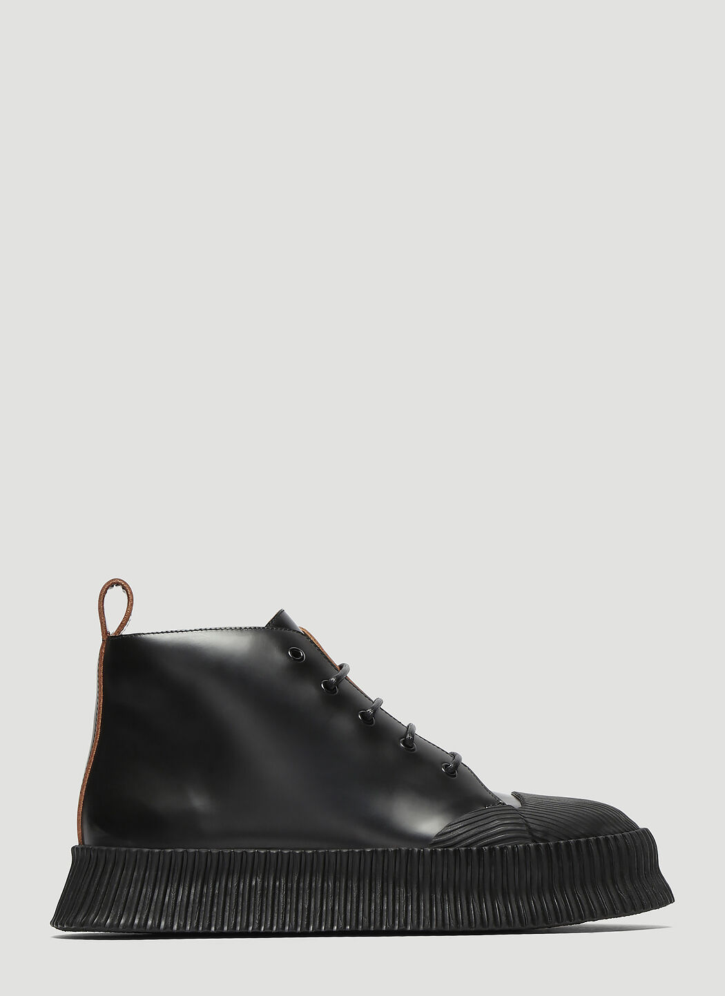 Jil Sander Vulcanized Leather Boots 2A83gS