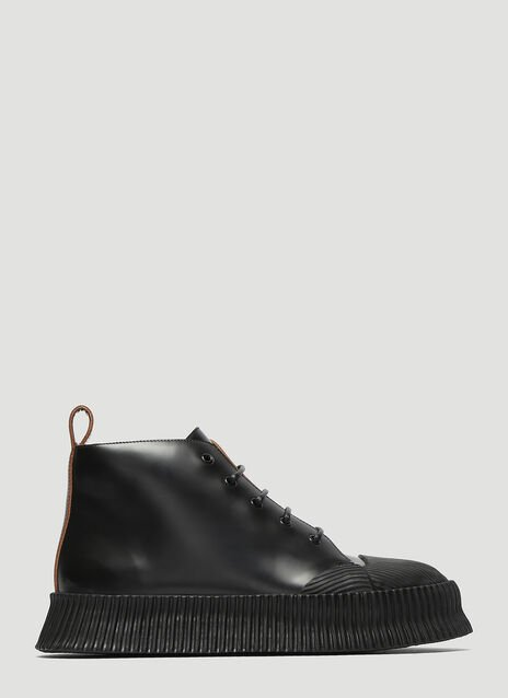 Jil Sander Vulcanized Leather Boots
