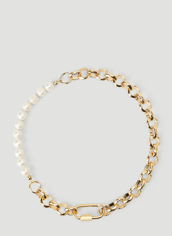 In Gold We Trust Bold Pearl Chain Necklace 1