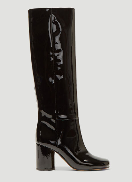 Maison Margiela Patent Knee High Boots