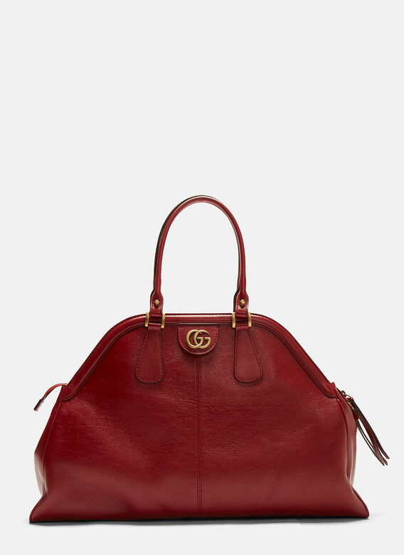 c810c092f76 Gucci Rebelle Leather Handbag in Red