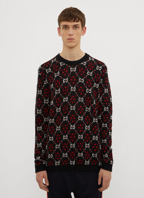 Gucci GG Intarsia Knit Sweater