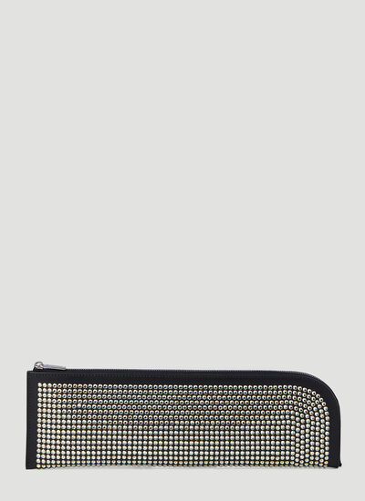 Rick Owens Crystal-Embellished Pouch