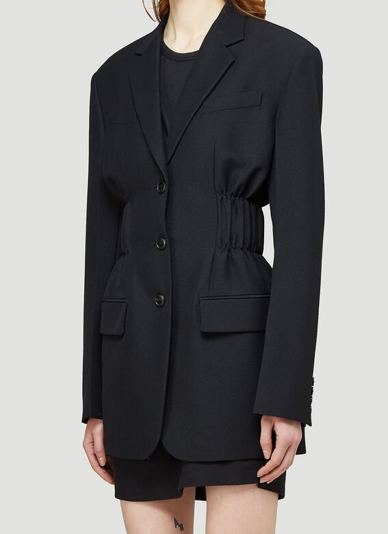 Alexander Wang FITTED SINGLE BREASTED BLAZER W/ CINCHED WAISTLINE 5