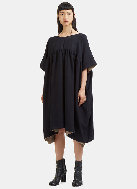 Oversized Double-Layered Dress