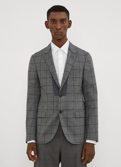 Lanvin Checked Insert Jacket