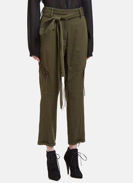 Saint Laurent Cargo Laced Pants