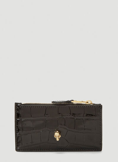 Alexander McQueen Zipped Leather Small Pouch