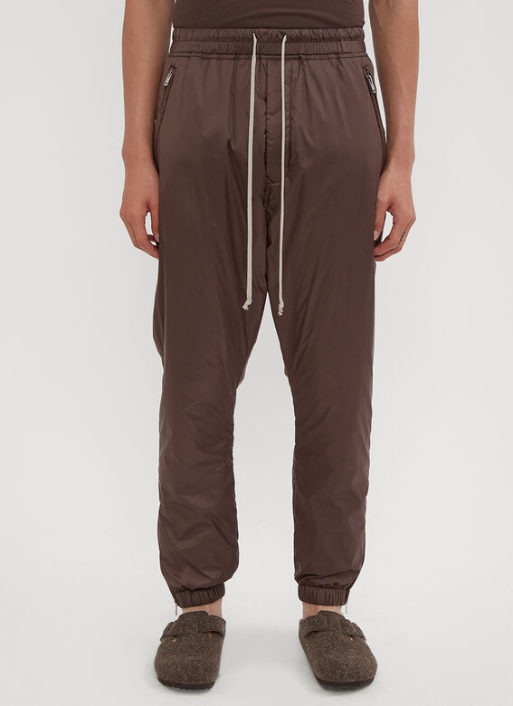 821117535 Rick Owens. Astaires Drawstring Track Pants in Brown