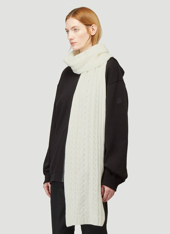 Moncler Cable-Knit Scarf 2