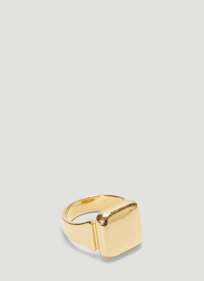 Bottega Veneta Square Signet Ring
