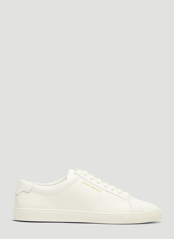Andy Low Cut Sneakers In White by Saint Laurent