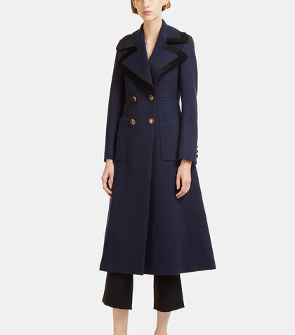 Tailored Double-Breasted Wool Coat