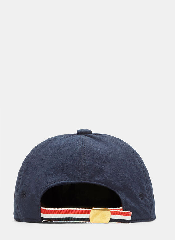 Thom Browne Hector Embroidered Salt Shrunk Cap