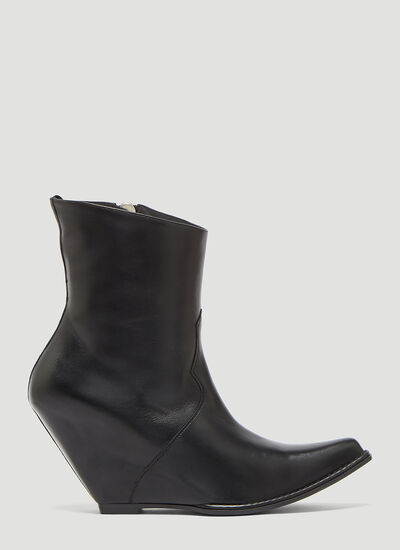 Unravel Project Western Ankle Boots