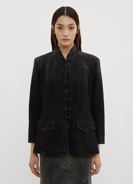 Olivier Theyskens Hook and Eye Single Breasted Jacket