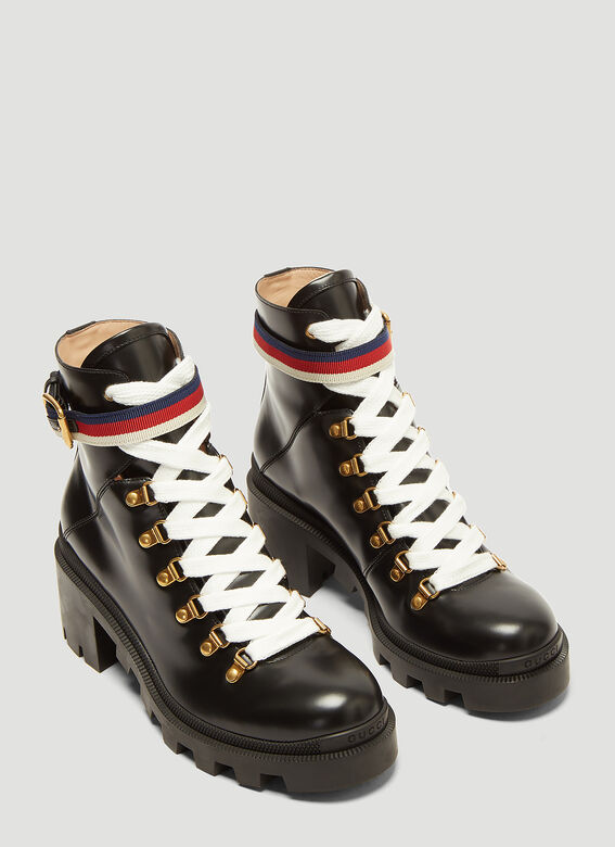 Gucci Trecking Heeled Ankle Boot 2