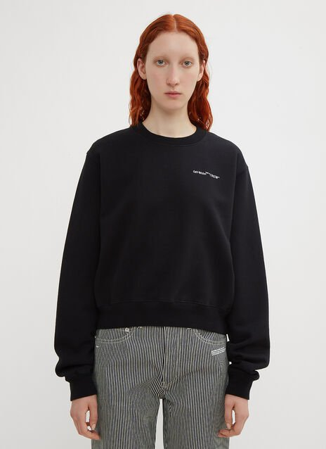 Off-White Cropped Logo Sweatshirt