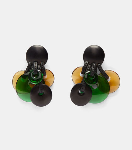 Ebony Clip-On Disk Earrings
