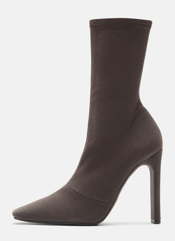 Yeezy Canvas Ankle Boot 110mm Heel