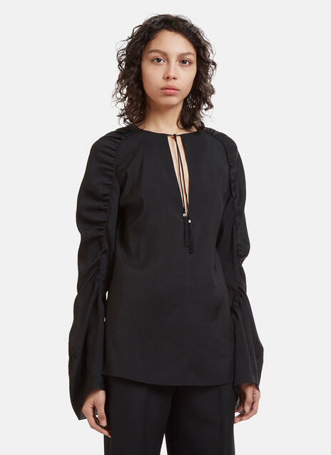 Saint Laurent Tassel Blouse