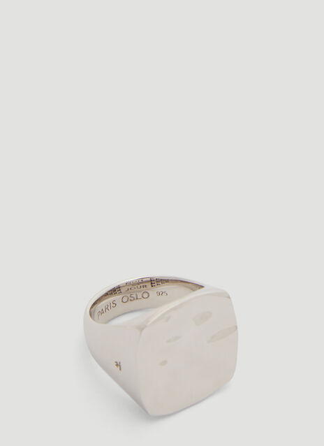 Tom Wood Wavy Square Ring