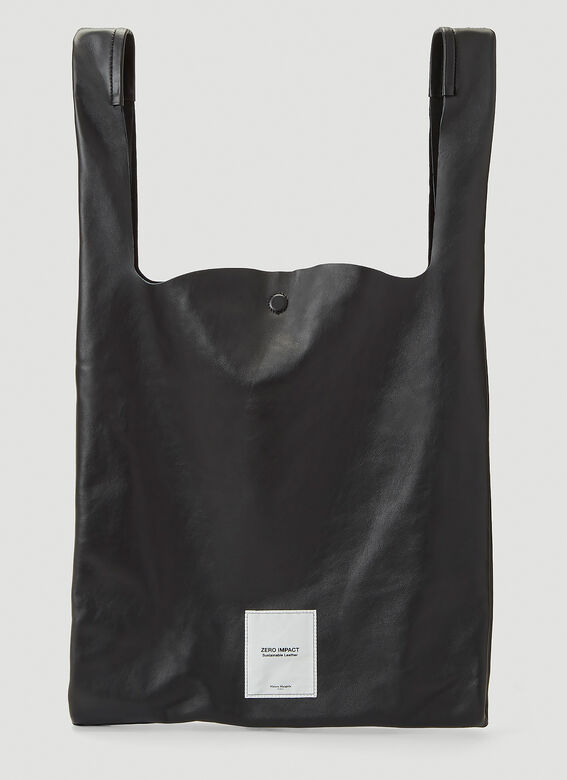 Maison Margiela Sustainable Leather Tote Bag in Black
