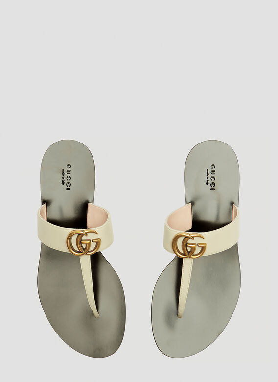 6a7adc3db29 Gucci GG Marmont Sandal in White