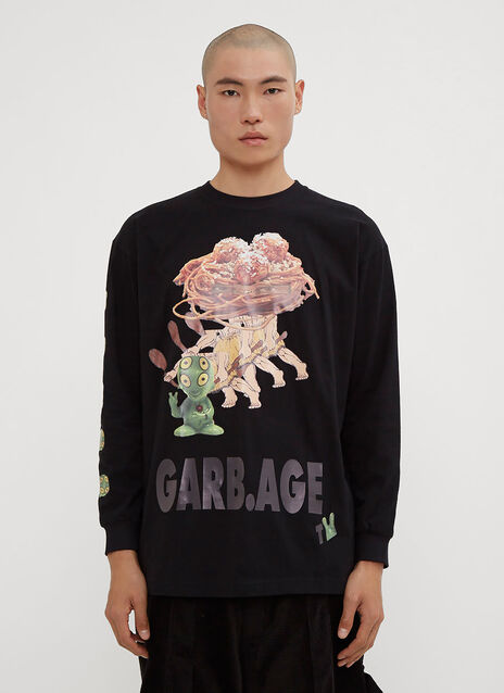 Garbage TV Spagetty Monster Long Sleeve T-Shirt