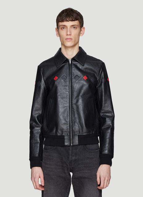 Saint laurent Triangle Patch Leather Jacket
