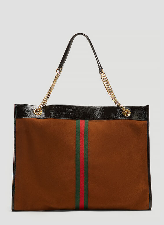 Gucci Tiger Head Suede Tote Bag