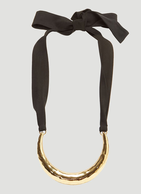 Marni Textured Crescent Necklace