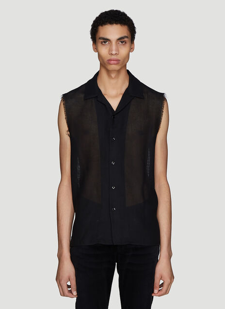 Saint laurent Raw Edge Gauze Shirt