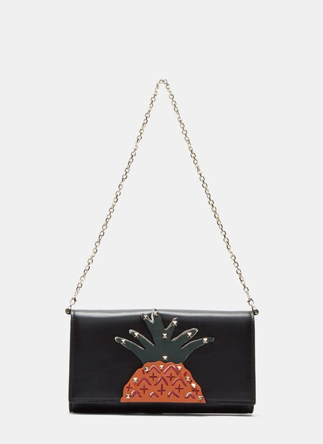 Pyramid Studded Pineapple Chain Wallet