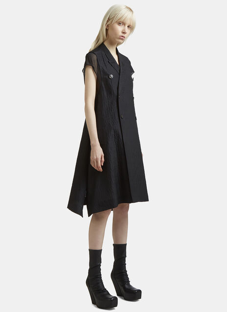 Rick Owens Sleeveless Double Breasted Faun Jacket