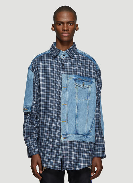Martine Rose Hybrid Denim Shirt
