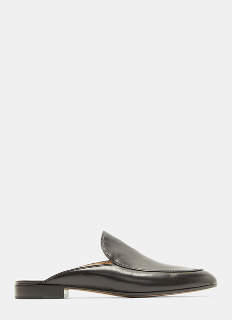Gianvito Rossi Palau Slip-On Leather Loafers